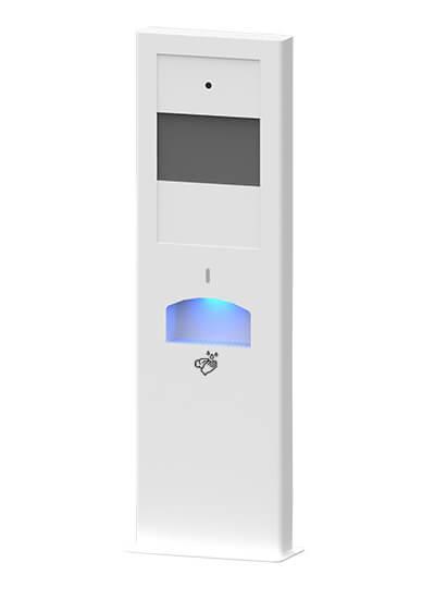 totem sanitario con dispensador de gel automático